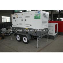 Remolque móvil usado generador diesel 20kw-200kw