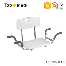 Topmedi Rehabilitation Therapy Supplies Steel Shower Chairs for Bath Tub