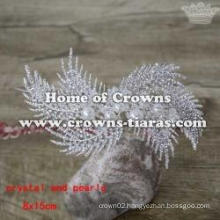 Crystal Flower Shaped Wedding Party Crown
