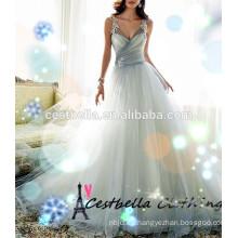 Real muestra de champán vestido de novia vestido de boda 2016