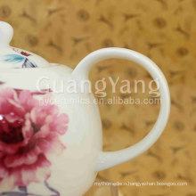 AB Grade Porcelain Enameled Plain White Porcelain Teapot