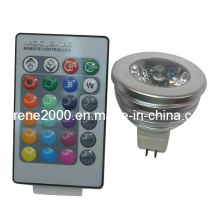 3W RGB LED Spot Light (KR-M1X3-RGB(R-MG3RGB-RP)) GU10, E27