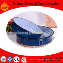 Enamel Round Tray Food Tray