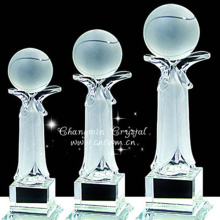 Low price guaranteed quality crystal awards awards ball trophy wholesale