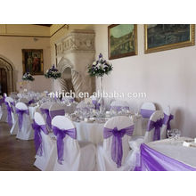 Organza tie chair cover bow for wedding