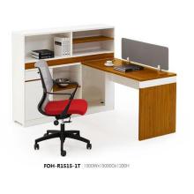 Espacio abierto moderno Estación de trabajo individual con una sola pieza