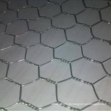 Malla de alambre hexagonal con alambre galvanizado sumergido en caliente