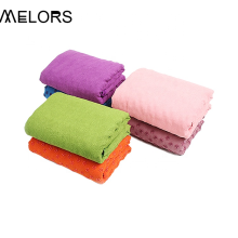 Melors Rubber Grip Dots Non-Slip Bottom Yoga Towel