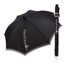 Luz de reflexão de publicidade por atacado de moda de alumínio em linha reta sol fácil guarda-chuva parasol uv