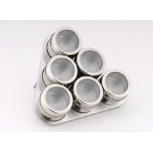 Stainless Steel Spice Rack Set (CL1Z-J0604-6D)