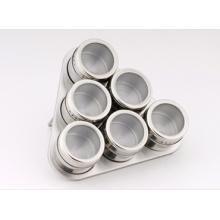 Aço inoxidável Spice Rack conjunto (CL1Z-J0604 - 6D)