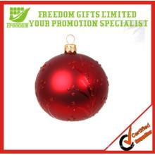 2014 Hot Selling Ambiental 6cm bola de Natal de plástico