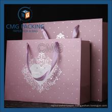 Classcial Style Silk Ribbon Matt Lamination Paper Bag (DM-GPBB-155)