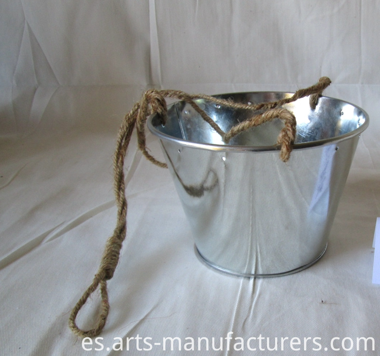 metal flower pot