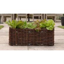 Poly Rattan im Freiendekor-Blumen-Pflanzer