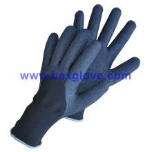 Revestimento térmico acrílico de calibre 7 mais 13G forro exterior de nylon, revestimento de látex, 3/4, luva de acabamento de espuma