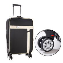 Factory price removable wheels PU leather luggage