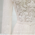 2018 luxury white color heavy beaded long sleeve China custom made wedding dress