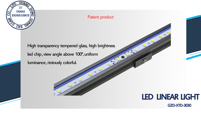 Architecture facade lighting led rigid light