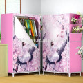 Bedroom easy portable fabric Wardrobe with metal frame