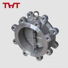 Válvula de retención del acelerador de disco de disco doble de oblea wafer de acero al carbono WCB