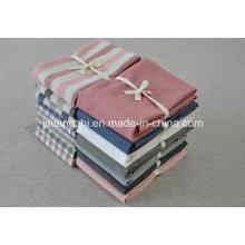 Hôtel de haute qualité 100% coton plaine Sergé Flat Bedding Set