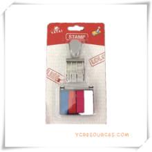 Nummer Siegel Datum Roller Stempel mit 4 Farbe Stempelkissen für Werbegeschenke (OI36020)