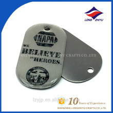 Custom logo heroes use engraving dog tag for man