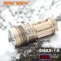 Maxtoch SN6X-15 3 * Cree T6 3250 Lumen Brilho De Bronze Na Lanterna Escura