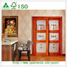 Porte solide française avec classe décorative Fsc ISO9001