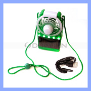 3.7V 0.06A Solar Powered Air Cooling Fan with Stand Mini Rechargeable Table Stand Fan