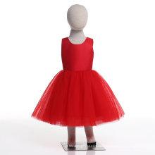 Chinesische rote Blumenmädchen Kleid für Hochzeit und zeremonielle