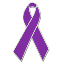Domestic Violence Awareness Ribbon Enamel Lapel Pin