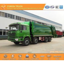 SHACMAN F3000 8X4 40m3 rear-loaded compactor vehicle