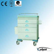Hospital Medical Five Drawers Medicine Trolley (N-21)