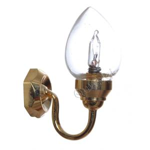 Dollhouse battery powered LED wall light miniature