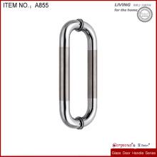stainless steel glass shower door handle