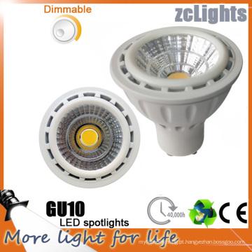 7W Dimmable GU10 LED luz COB LED para casa