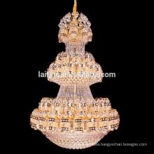 Large villa hotel hanging iron crystal chandelier light
