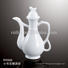 healthy durable white porcelain oven safe wine bottle
