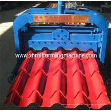 Máquina para fabricar tejas esmaltadas de acero
