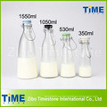 500ml 1000ml 1500ml Clip Ceramic Lid Botellas de Leche de Cristal Clara