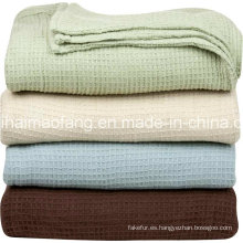 /Herringbone tejido 100% algodón Hotel manta de la galleta