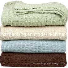 Waffle /Herringbone Weave 100%Cotton Hotel Blanket
