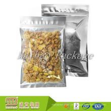 Kundenspezifischer Druck-Nahrungsmittelgrad drei seitlicher Heißsiegel-Zipverschluss-Aluminiumfolie-Plastiktasche für das Verpacken der getrockneten Nahrung