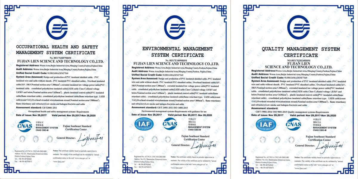 certification of management system