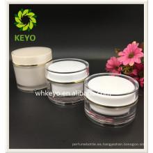 30g 100g 150g venta caliente de alta calidad maquillaje embalaje transparente coloreada tarro de plástico cosmético vacío