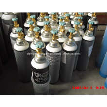Cilindro de gás de oxigênio médico da liga de alumínio, gás do oxigênio