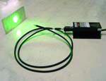 fiber coupled laser green