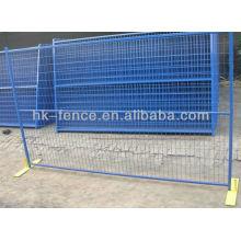 Vente chaude Canada type toutes les couleurs (bleu + vert + jaune + rouge) clôture temporaire / clôture portable (fabrication) ISO9001